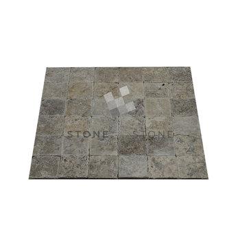 10x10/1cm - Travertin - Vieilli Rustique - Silver (Gris)
