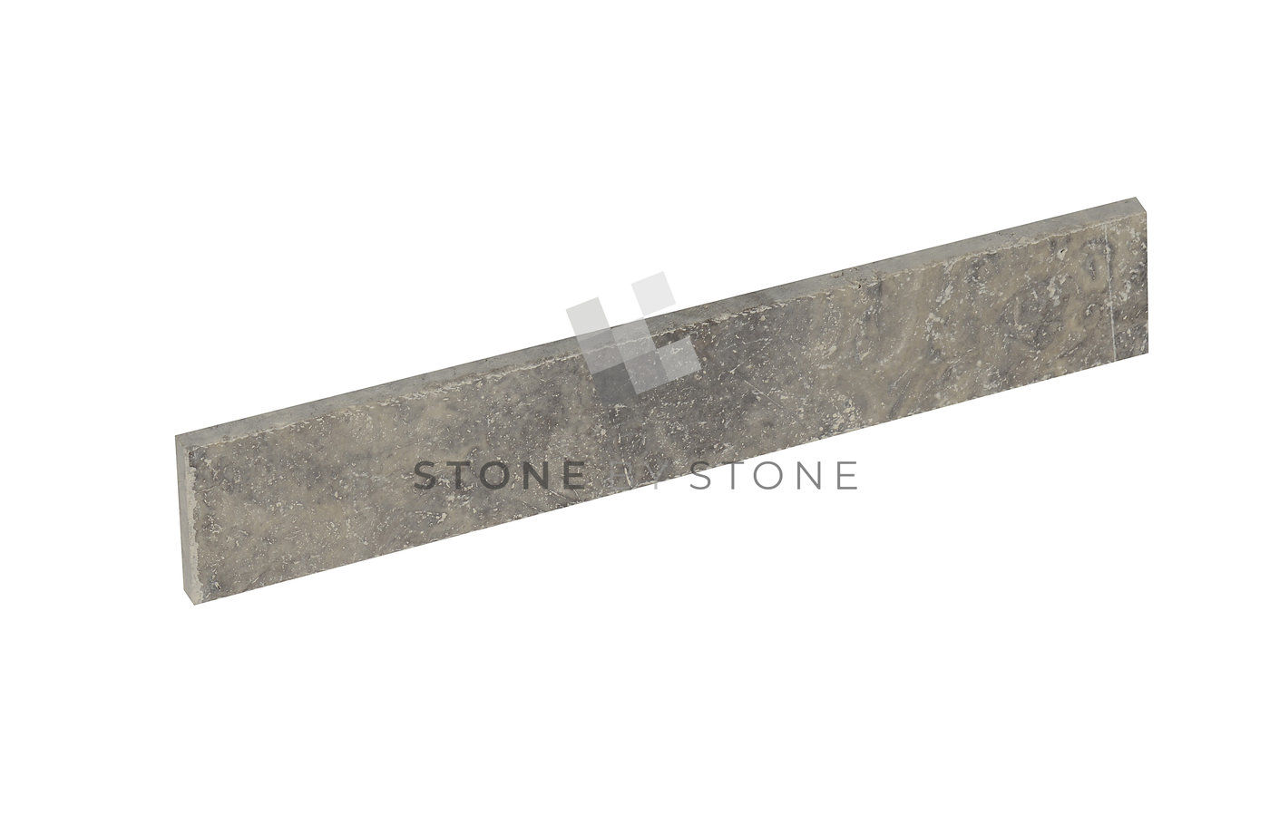 Plinthes 7x40/1cm - Travertin - Vieilli 1er Choix - Silver (Gris)