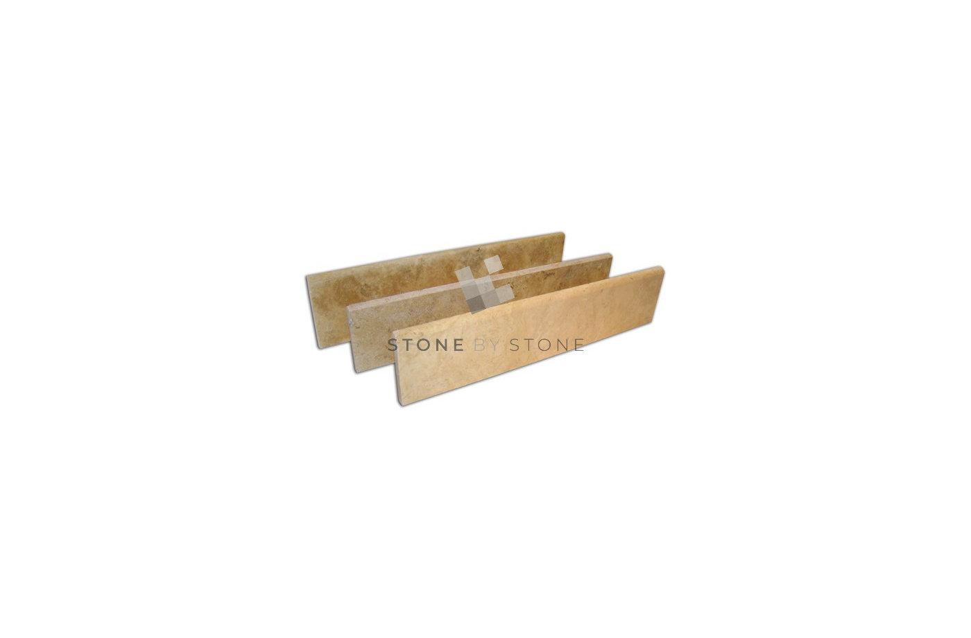 Plinthe 3X3cm longueur libre - Marbre Sinai - Vieilli - Beige cendré