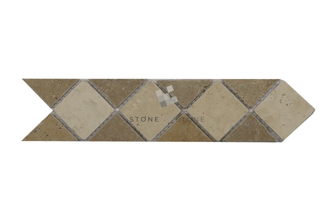 Frise en Travertin 7,5x30 - Losange | Stone By Stone, Pro du Travertin