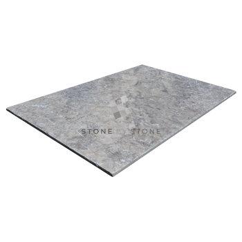 60x90/1,5cm - Travertin - Vieilli 1er Choix - Silver (Gris)