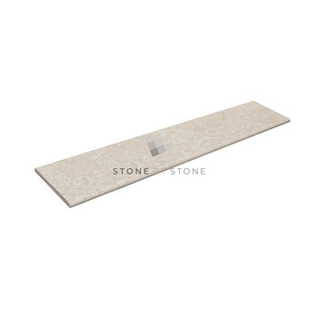 33x140/3cm Bord demi rond - Travertin 1er Choix - Mix beige
