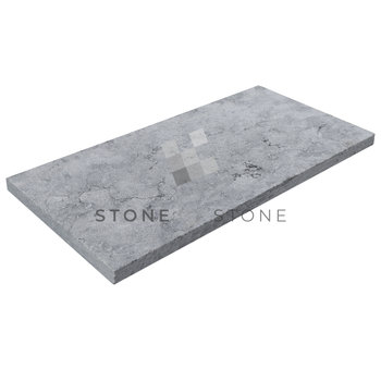 33x61/3cm Bord droit - Royal Grey - Sablé