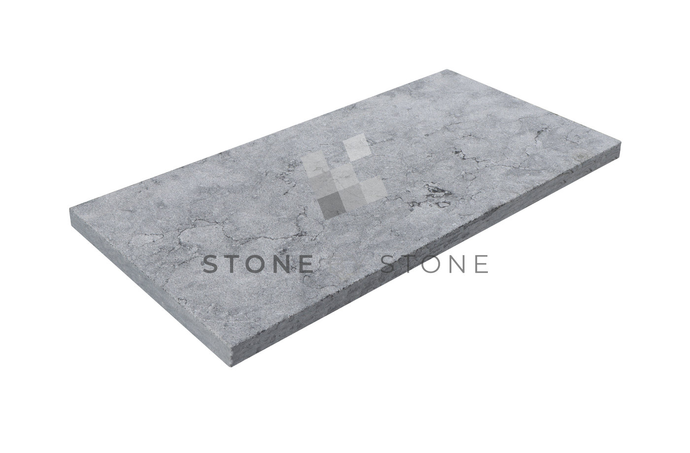 33x61/3cm Bord droit - Royal Grey - Sablé