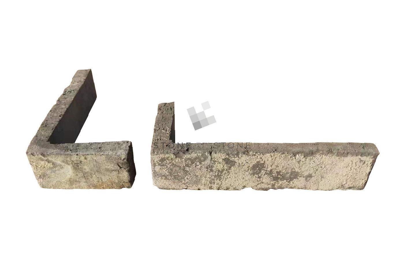 Brique de parement Angle - Récupération - Gris