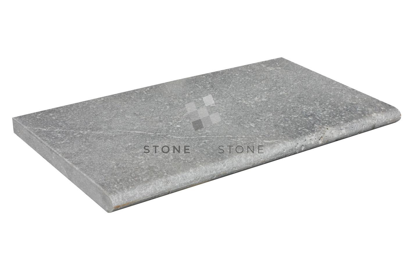 33x61/3cm Bord droit - Travertin Antik - Vieilli 1er Choix - Silver