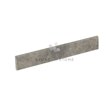 Plinthes 7x40/1cm - Travertin Adouci Rebouché - Silver (Gris)