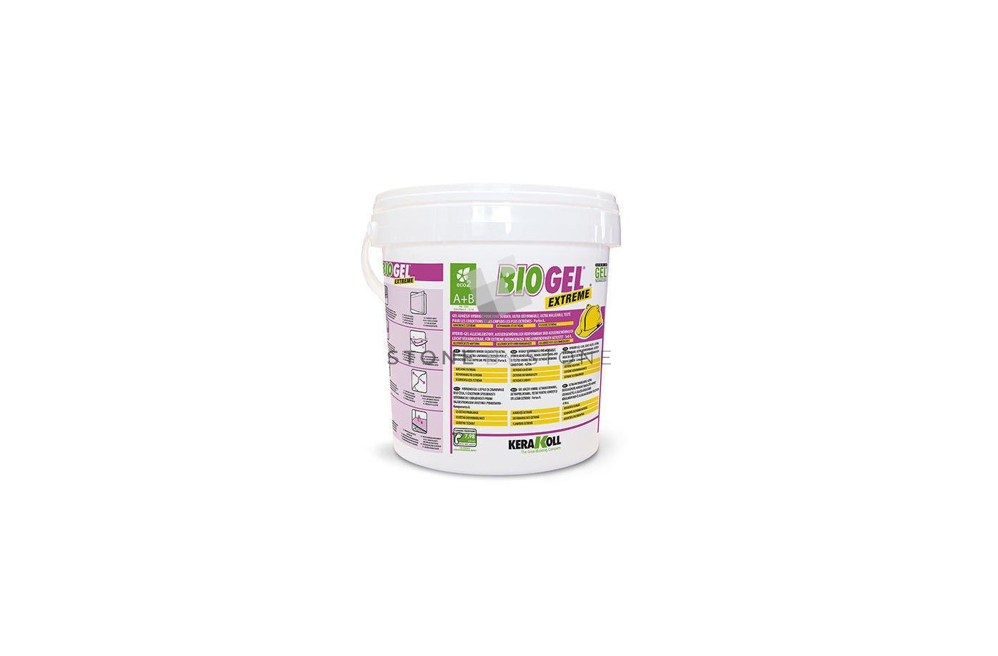 MORTIER COLLE FLEXIBLE ULTRA BLANC - BIOGEL EXTREME - KERAKOLL - 10KG
