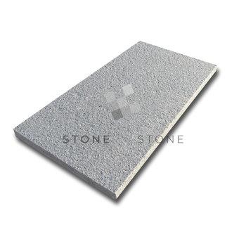 Margelle 33x60/3cm Bord droit - Granit London Grey - Flammé