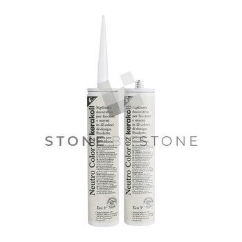 Silicone spécial pierre - KERAKOLL - Neutro Color Blanc (02) - 310 ml
