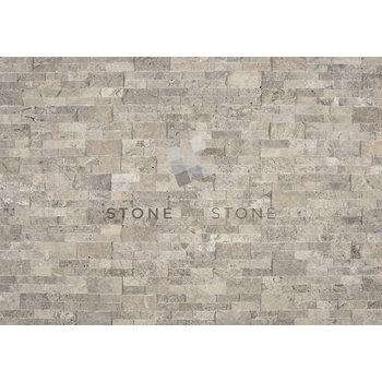 SLIMPANEL - Parement mural - Travertin - Silver (Gris)