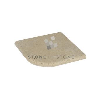 Angle sortant 33/3cm Bord Rond - Travertin 1er choix - Mix beige