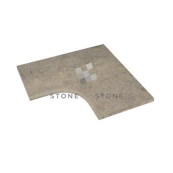 Angle rentrant 33/3cm Bord Rond - Travertin 1er choix - Silver