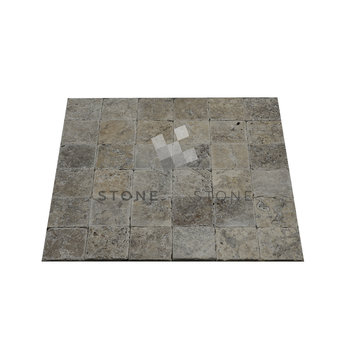 10x10/1cm - Travertin 1er Choix - Silver (Gris)