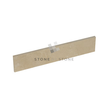 Travertin - Plinthes 8x40/1cm - Classic Crème - Vieilli 1er Choix