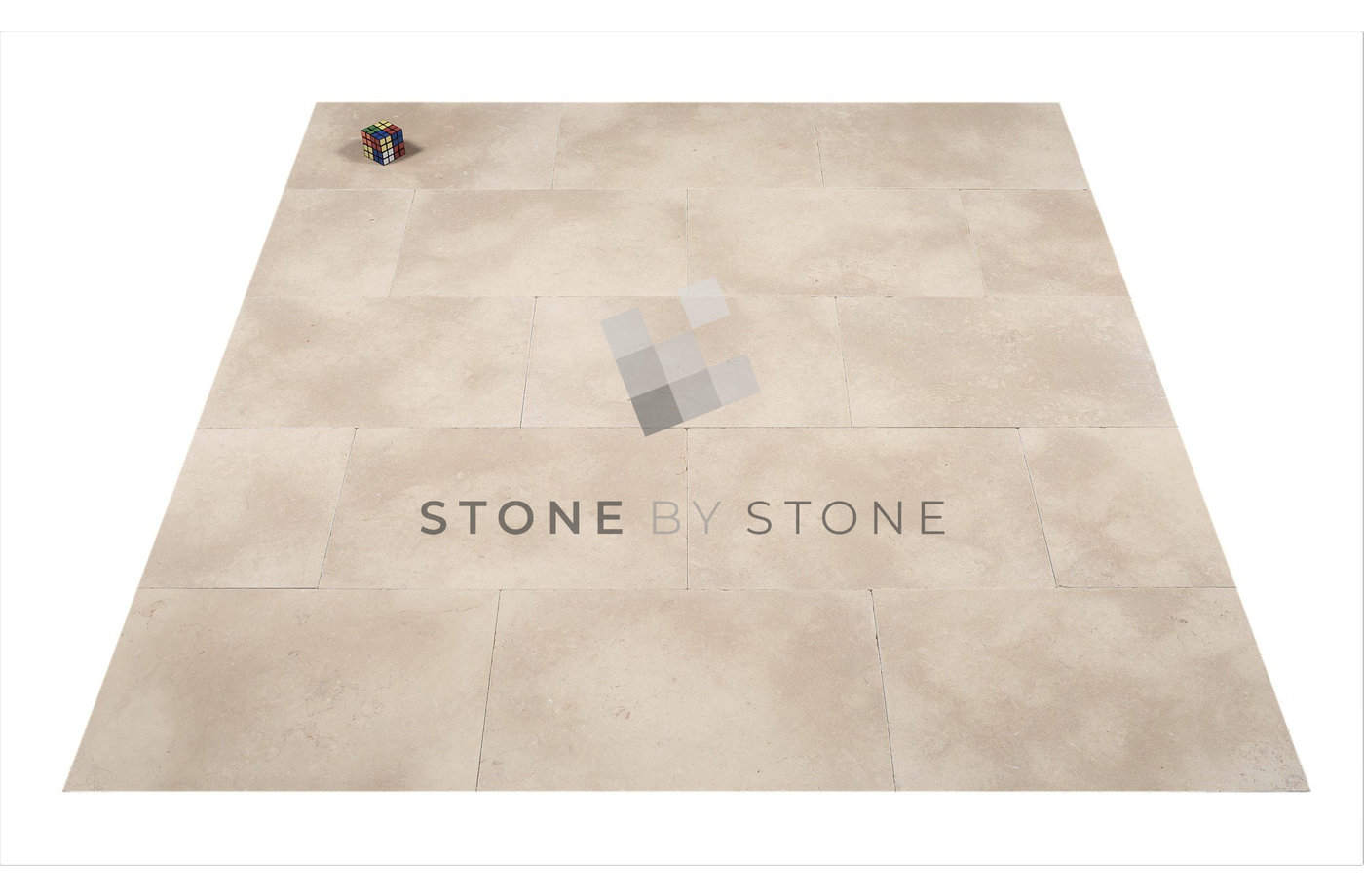 Dallage en Marbre Sinaï Pearl - Vieilli - Beige Cendré - 40x60/1,5cm