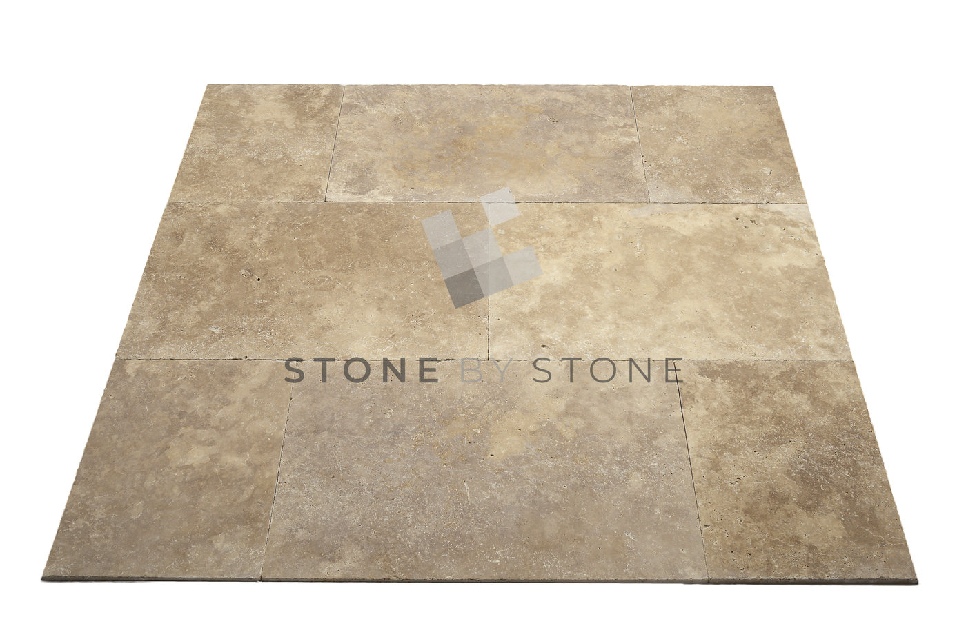 Dallage en Travertin : 60X90/1,5cm - Mix Beige - Vieilli 1er Choix