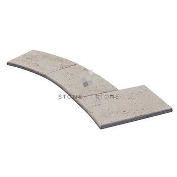 Bain Romain rayon 150/3cm Bord Rond - Travertin - Crème