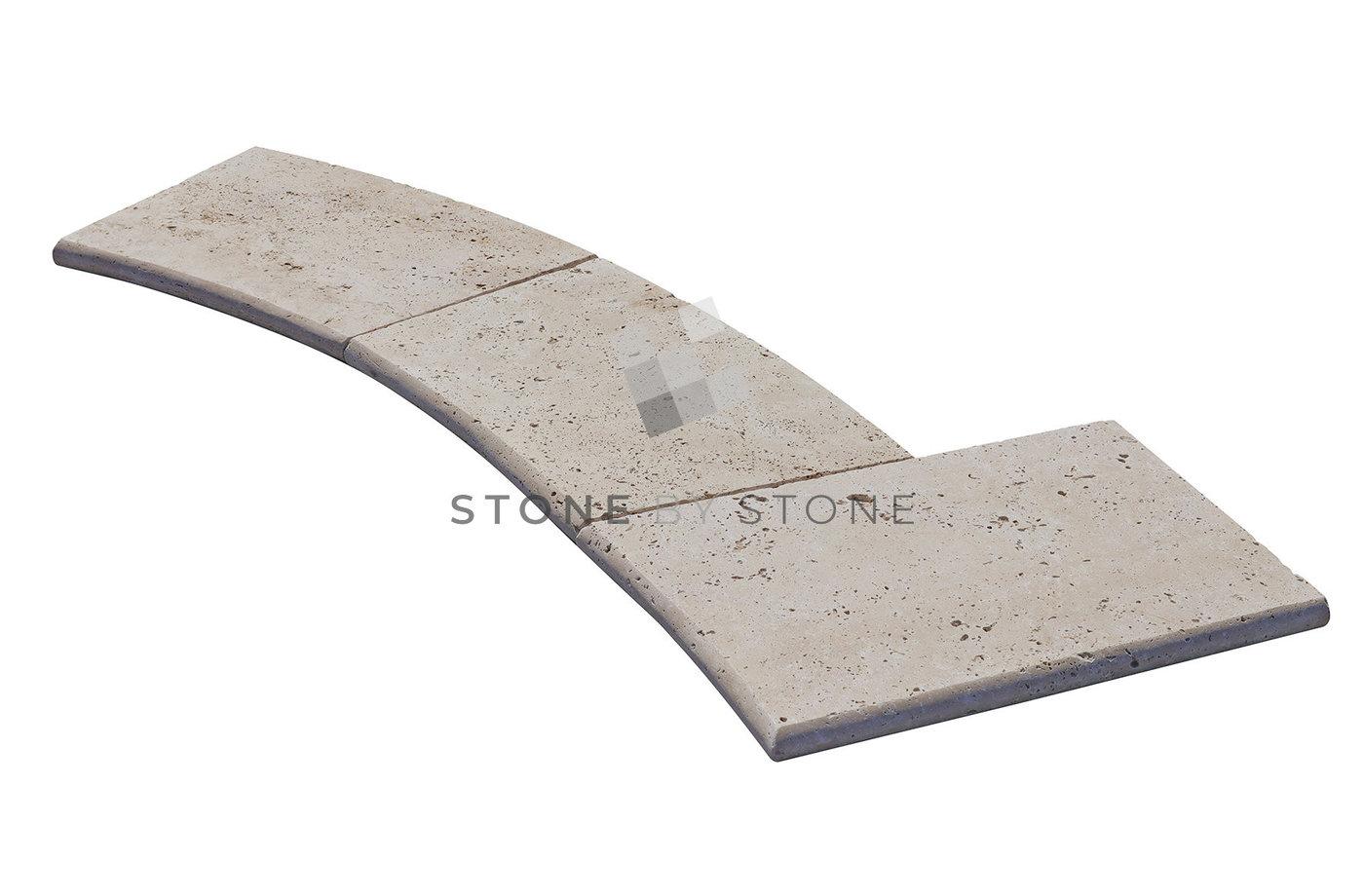 Bain Romain rayon 1,5m/3cm Bord demi rond - Travertin - Creme