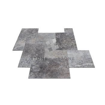 BIG OPUS/1,5cm - Travertin 1er Choix - Silver (Gris)