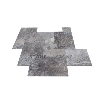 Lot de 15m² - BIG OPUS/1,5cm - Travertin 1er Choix - Silver (Gris)