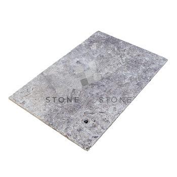 40x60/1,2cm - Travertin Rustique - Silver (Gris)