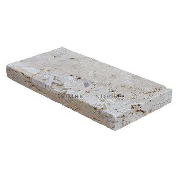 Pavé 15x30/3cm - Travertin Rustique - Mix Beige