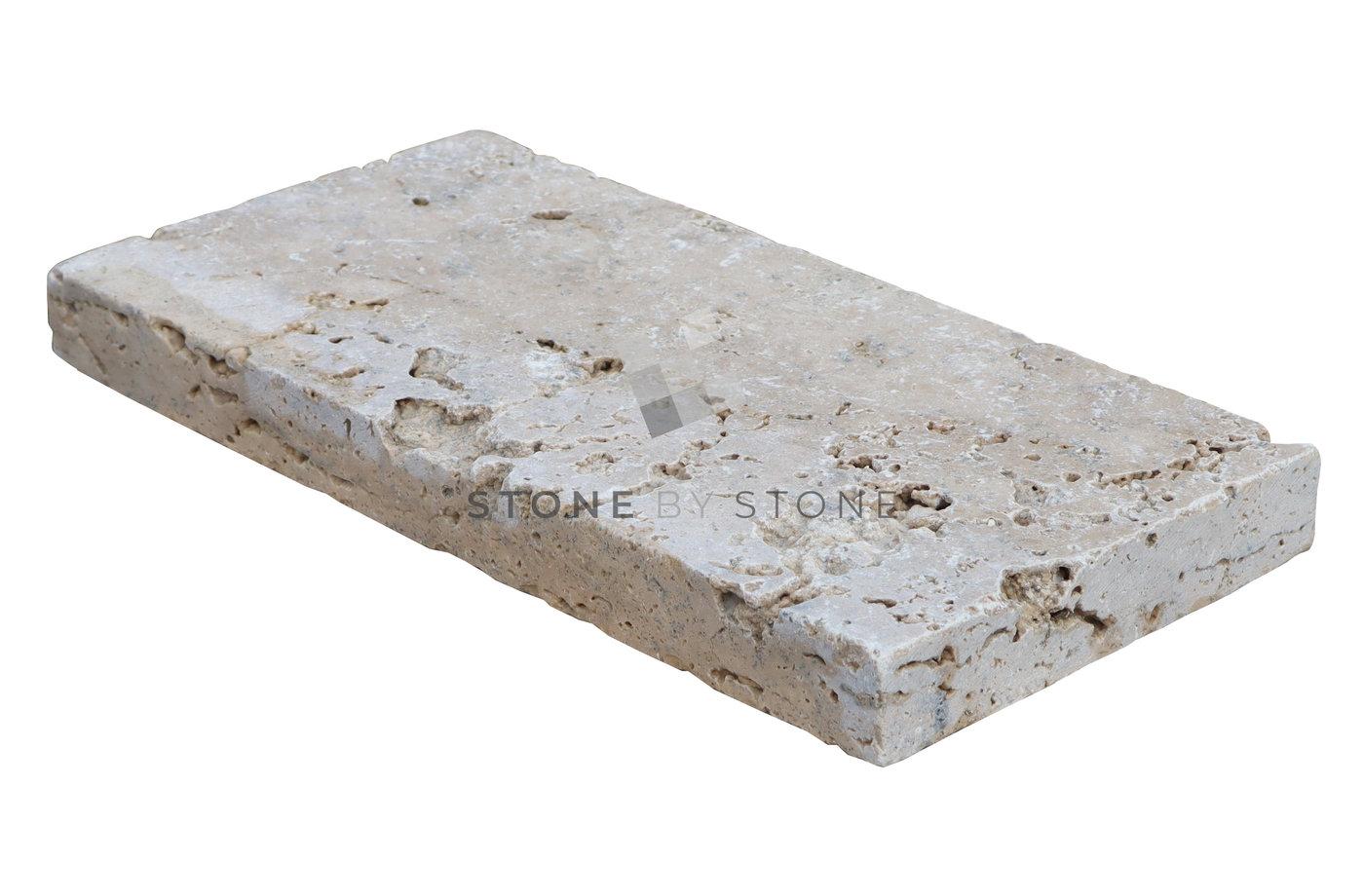 Travertin - Pavé 15x30/3cm - Mix Beige - Vieilli Rustic