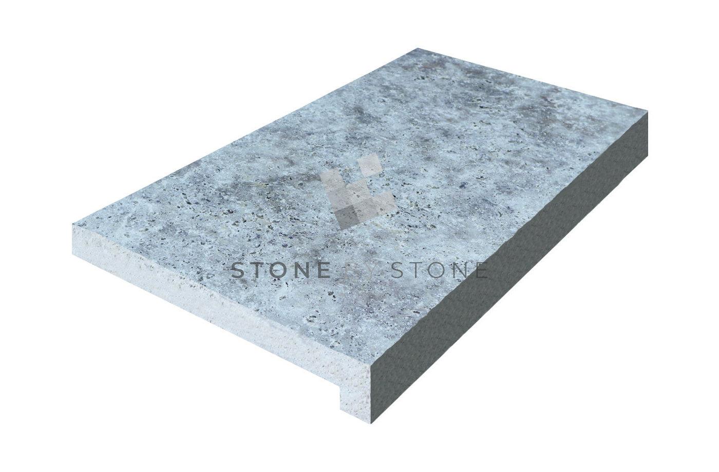 33x61/3cm avec retombée de 3cm - Travertin 1er choix - Silver