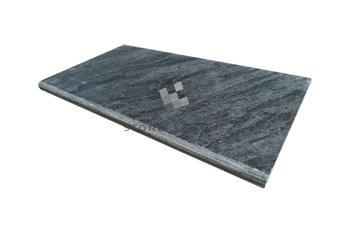 Margelle 33x60/3cm Bord Rond - Pierre d'Asie - Grey Bali