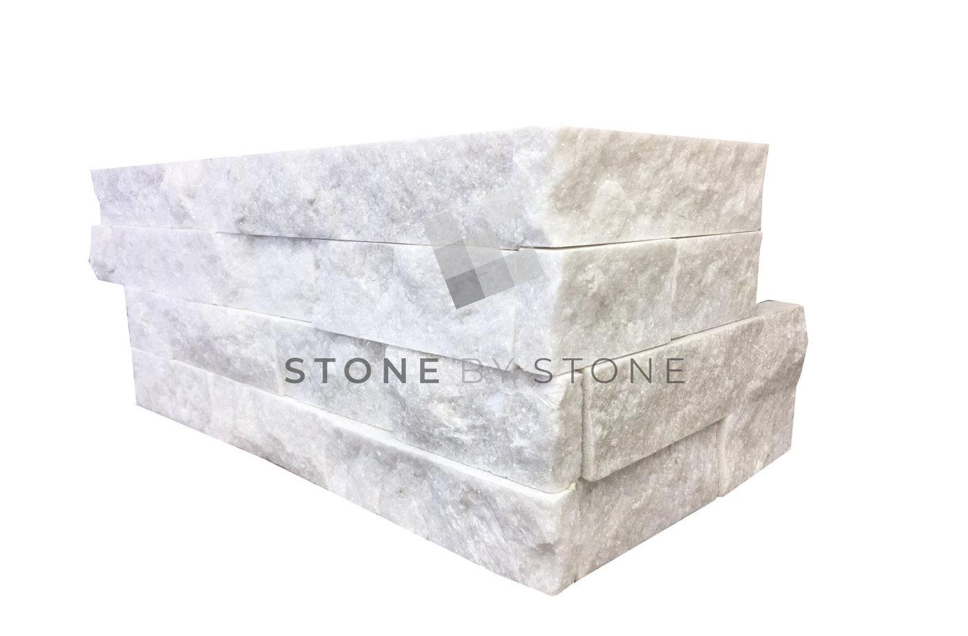 SLIMPANEL Angle - Parement mural - Quartzite - White Pearl