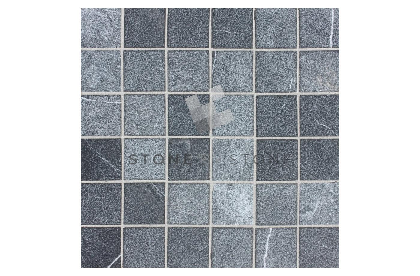 Mosaïque 4,8x4,8/1cm - Royal black - Gris anthracite